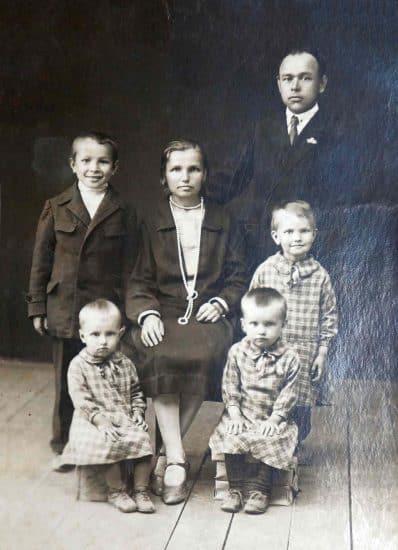 Семья Родькиных Петрозаводск. 1931 год