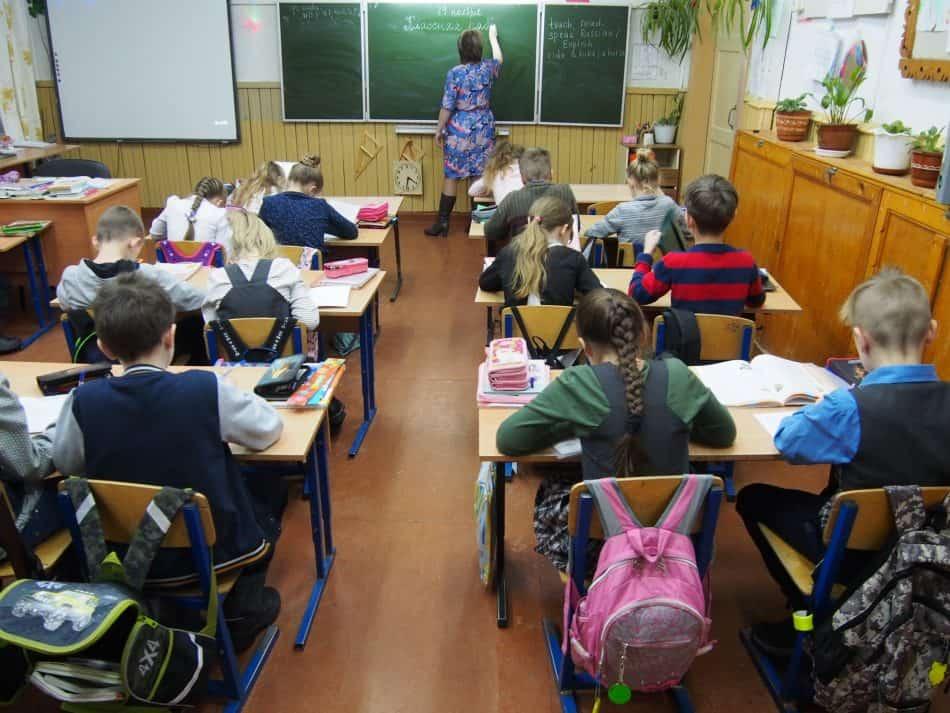 Карелия. Урок в сельской школе. Фото Марии Голубевой