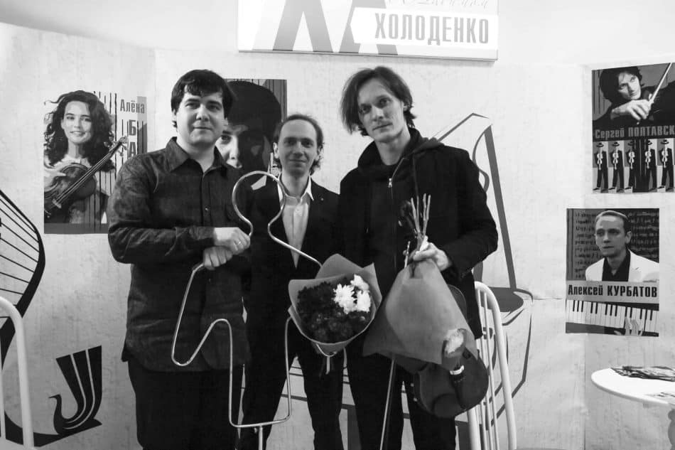 Вадим Холоденко, Алексей Курбатов и Сергей Полтавский. Фото из группы Карельской филармонии vk.com/kgfptz