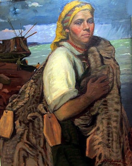 Георгий Стронк. Беломорская рыбачка. 1978