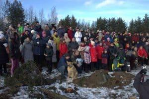 В Петрозаводске прошла акция в поддержку Каменного бора