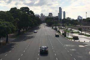 Пустой Буэнос-Айрес. Фото Ольги Галецкой. belsat.eu