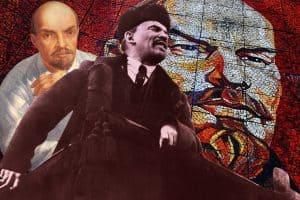 В коллаже использованы портреты В. Ленина: картина К. Петрова-Водкина (1934), мозаика Т. Джолагонии (1980), снимок с Красной площади (1918). С сайта style.rbc.ru