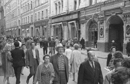Столешников переулок. 1963 год. Фото: a-dedushkin.livejournal.com