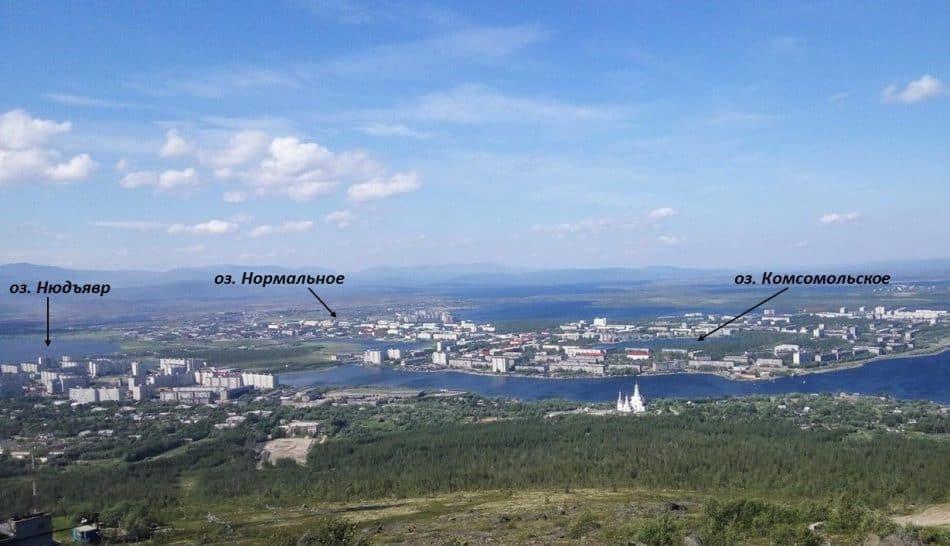 Вид на город Мончегорск. Фото: greenexp.ru/places