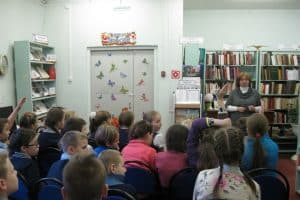 Ирина Никитина на встрече со школьниками