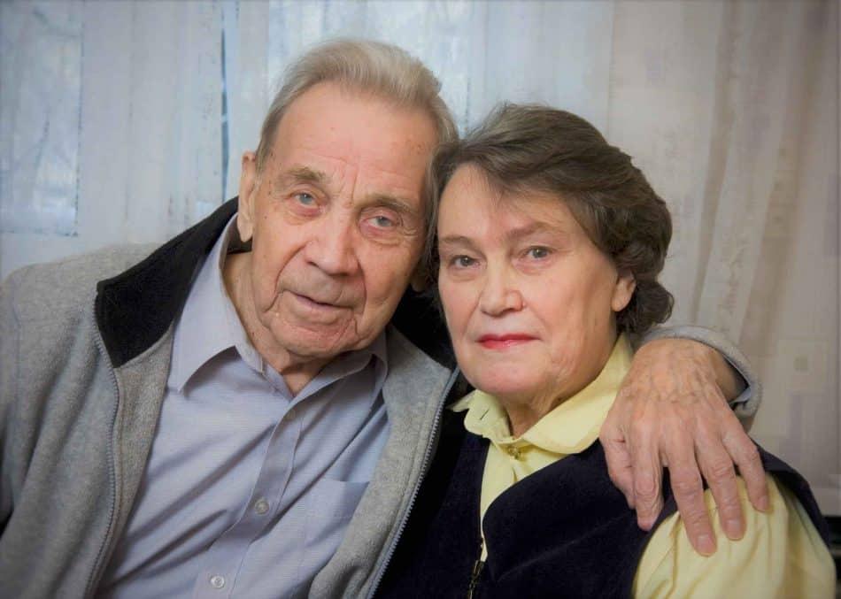 Владимир Петрович Крылов с женой Раисой Ивановной. Фото Виталия Голубева