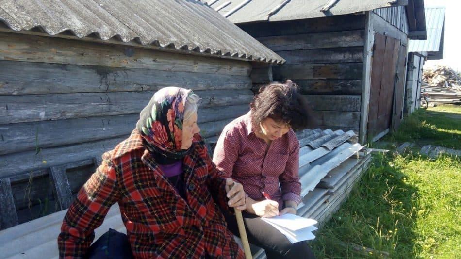 Запись в селе Сумский Посад у Риммы Егоровны Ларионовой ведет Елена Гусева