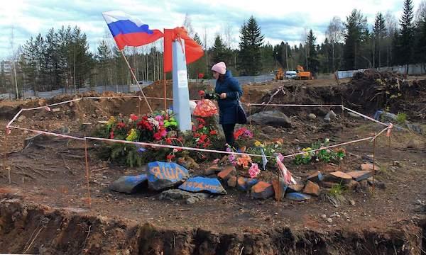 Каменный бор, Петрозаводск. Памятник Яше Степанову