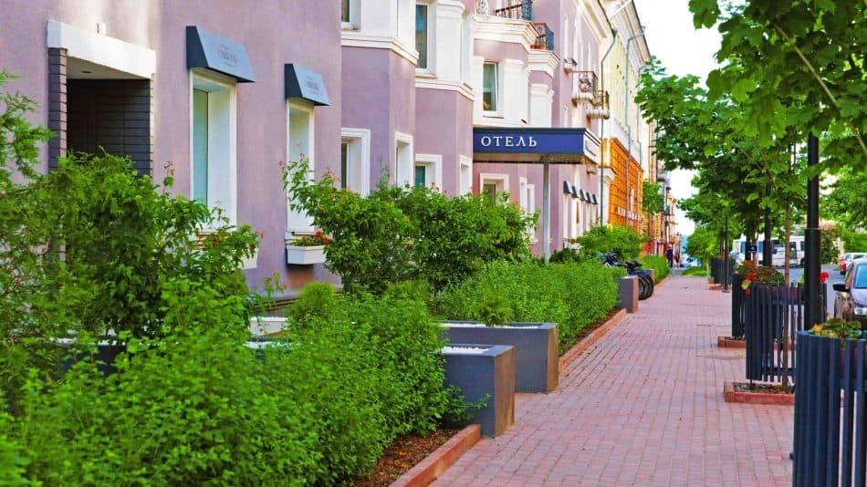 Петрозаводск. Благоустроенная зона на улице Свердлова
