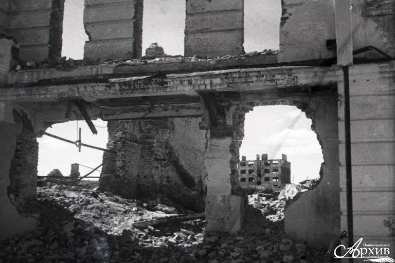 Разрушенный Петрозаводск, 1945 год. Фото: Петр Беззубенко