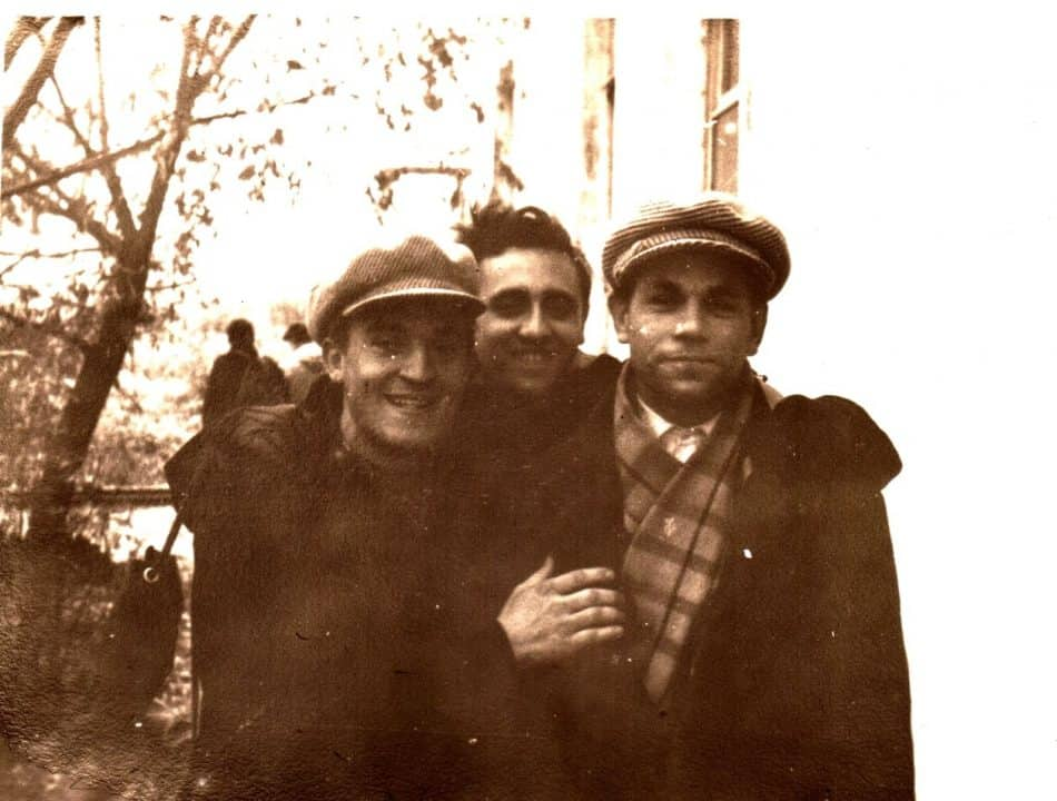 Слева направо: В. Савельев, М. Полыковский, А. Ганжиков