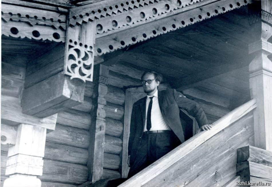 Бориc Гущин на острове Кижи, 1970-е. Фото: kizhi.karelia.ru