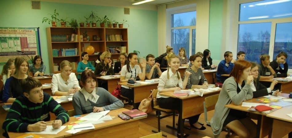 На открытом уроке в одной из сельских школ Карелии. Фото Марии голубевой
