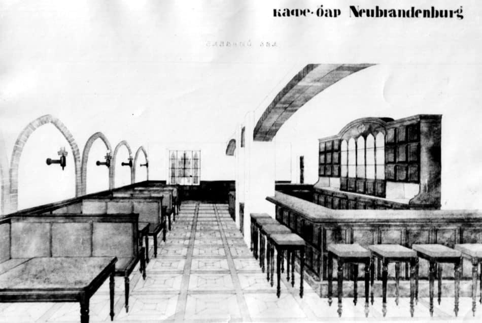 Проект кафе. Архитектор Э. Андреев