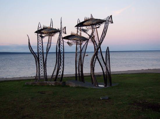 «Онежские ФишКи (Онежские рыбки)» - один из новых арт-объектов в Петрозаводске. Фото Ирины Ларионовой