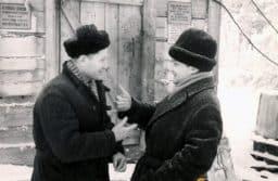 В.В. Пименов с жителем Верхнего Олонца
