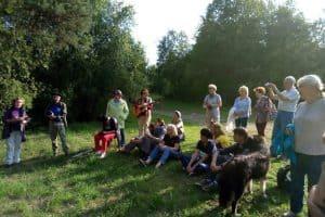 Встреча год назад на поляне, которую неофициально называют Цветаевской