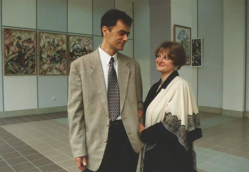 На выставке в Ленинграде. Фото из семейного архива