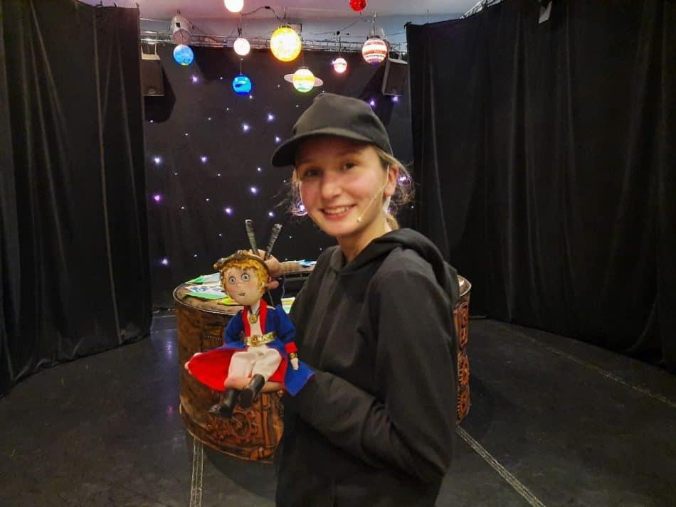 Юлиана Чаплыгина в роли Маленького Принца. Фото Татьяны Чаплыгиной