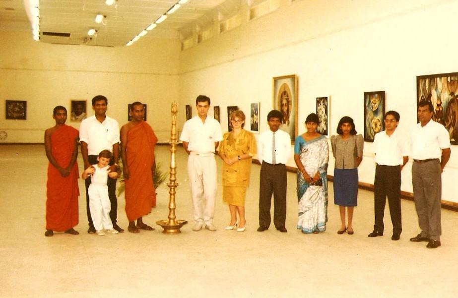 На выставке в Коломбо
