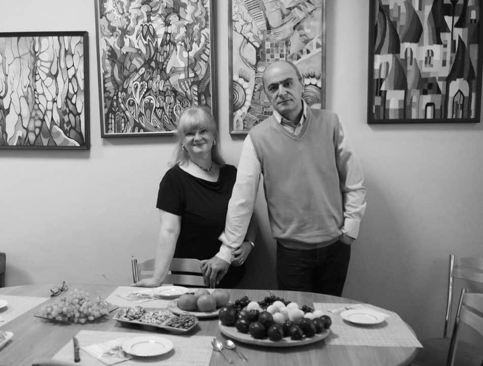 Янина Ивасенко и Тенгиз Гиголашвили в своей мастерской. Фото Ирины Ларионовой