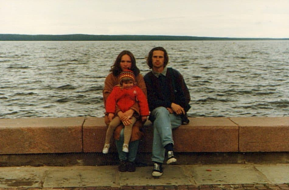 На Онего. 1996 год