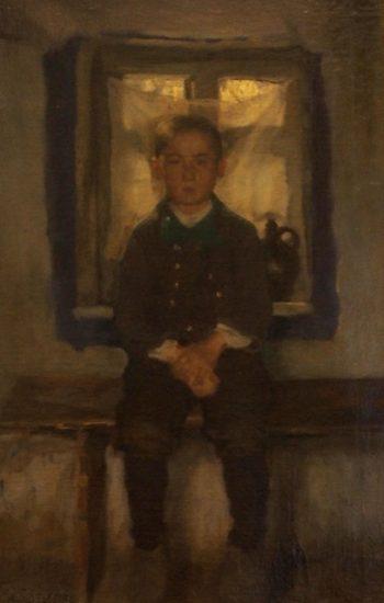 Альберт Эдельфельт. Сидящий мальчик