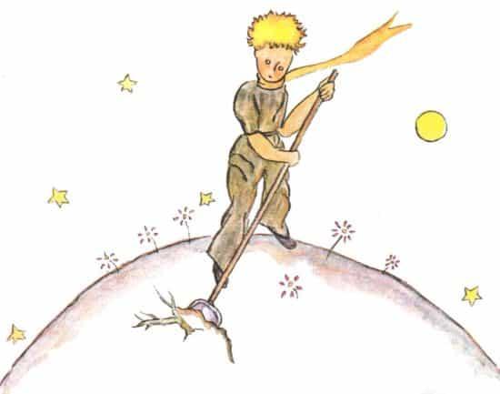 Иллюстрация Антуана де Сент-Экзюпери к «Маленькому принцу»