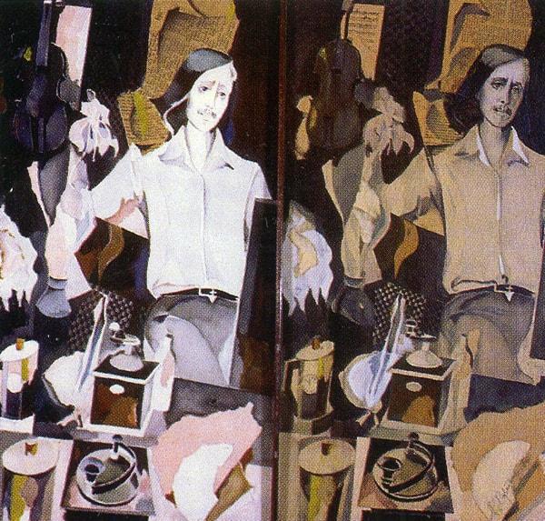 Александр Харитонов. Автопортрет. Диптих. 1977-1987