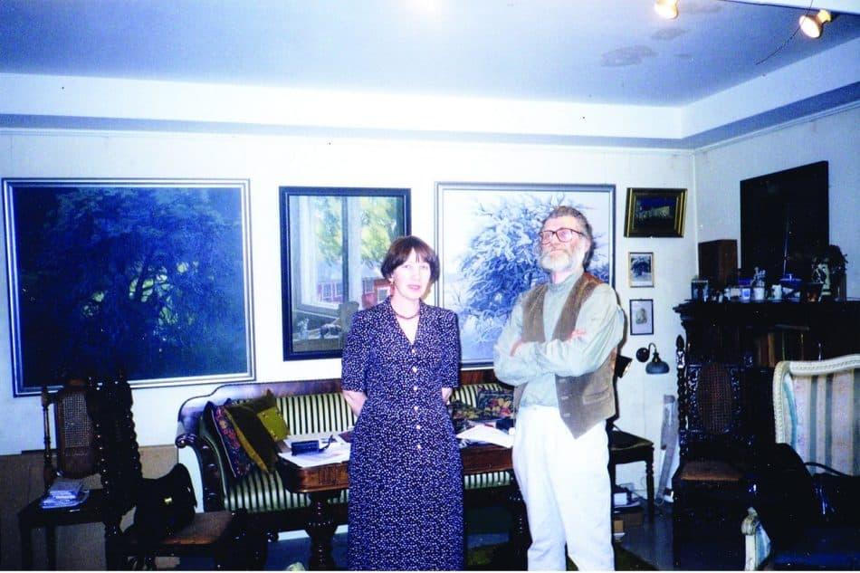 Галина Акулатова и Фолке Ниеминен в мастерской художника в Хельсинки. 1998 год
