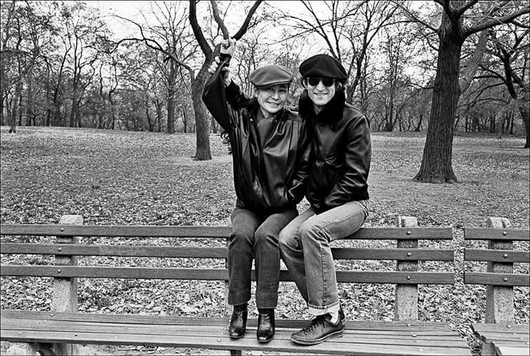 Джон и Йоко в Центральном парке Нью-Йорка
