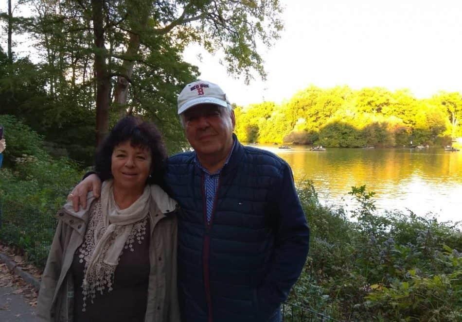 Михаил ГОльденберг с женой Аллой в Центральном парке Нью-Йорка. 2018 год