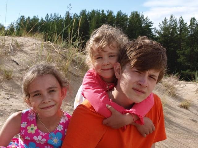 Дети Елены и Романа Леонтьевых. Фото из семейного архива
