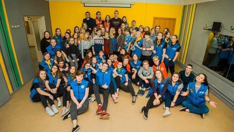 Члены Молодежного клуба на Древлянке