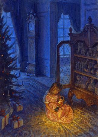 """Скотт Густафсон. Иллюстрация к сказке """"Щелкунчик и Мышиный король"""" Гофмана"""