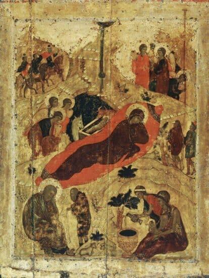 Андрей Рублев. Рождество Христово