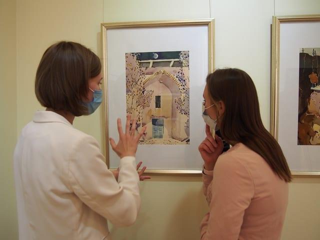 На выставке Александра Харитонова. Фото Ирины Ларионовой