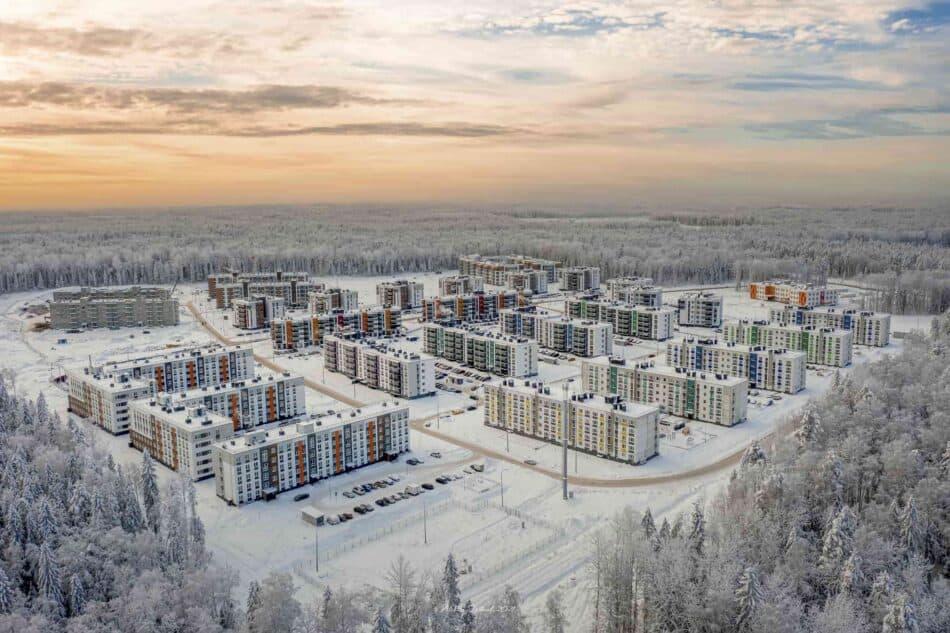 В одном из новых микрорайонов Петрозаводска. Фото: Алексей Фрилунд