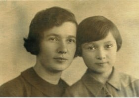 Александра Павловна и Альбина. 1941 год