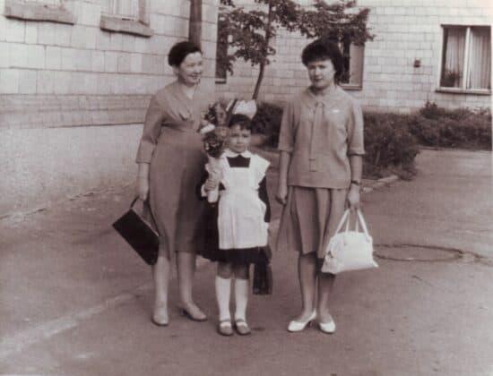 Александра Павловна, Альбина Алексеевна и Ирина Разумовы. 1965 год