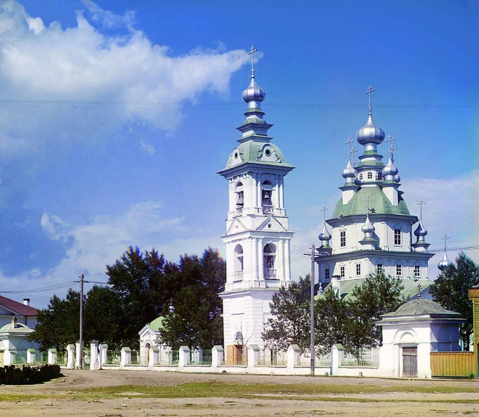 Воскресенский собор. Петрозаводск. Фото С. М. Прокудина-Горского. 1916 год