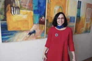 Валентины Гайчук на вернисаже. Фото Ирины Ларионовой