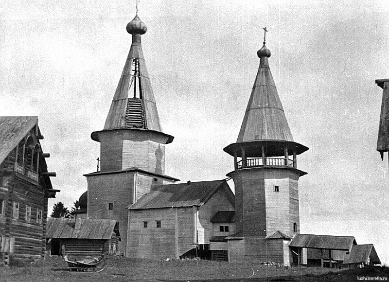 Вознесенская церковь в селе Типиницы (Заонежье). Фото Л. Петтерссона. 1943 г. (из коллекции музея «КИЖИ»).