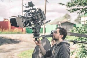 На съемках Михаил Летов, член Союза кинематографистов Карелии. Фото из группы: vk.com/karelfilmunion
