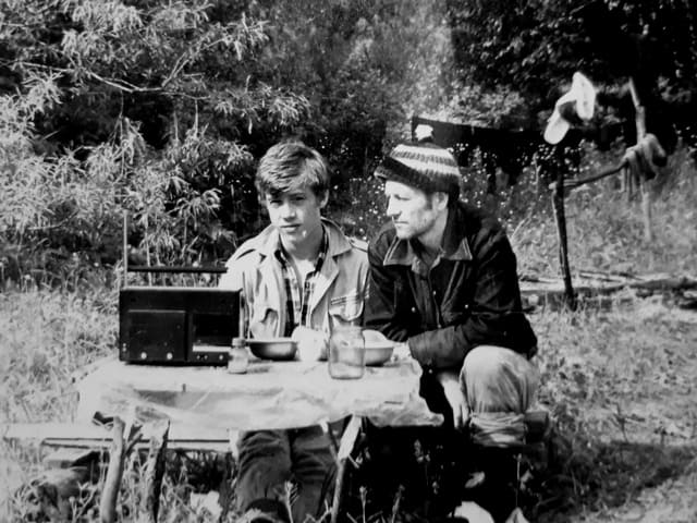 Алексей Жидков с отцом. 1980 год. Фото из семейного архива