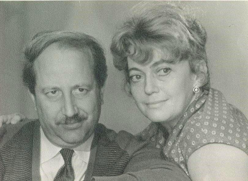 Михаил Швейцер и Софья Милькина после фильма «Время, вперед!». Осень 1965 года. Из архива Фрадковых