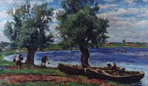 Петр Кончаловский. Озеро Ильмень. 1925. Холст, масло.