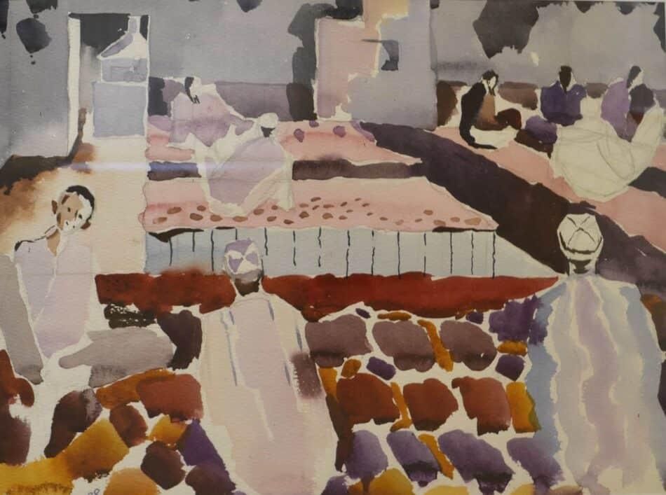 Александр Харитонов. Красная чайхана. Сайрам. 1988