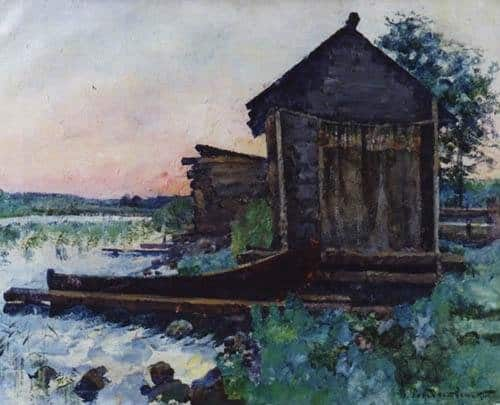 Василий Рождественский. Белая ночь (Онежское озеро). 1928. Холст, масло